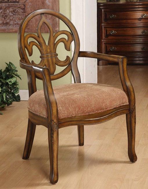 Fleur De Lis Burnt Paisley Arm Chair 11917712
