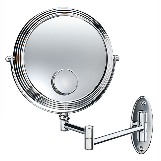 Conair Chrome 1x 10x 15x Spot 7 5 Inch Wall Mount Mirror