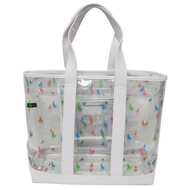 6e5b02bf8f4b Polo Ralph Lauren Clear Mini Multicolor Pony Tote Bag on PopScreen