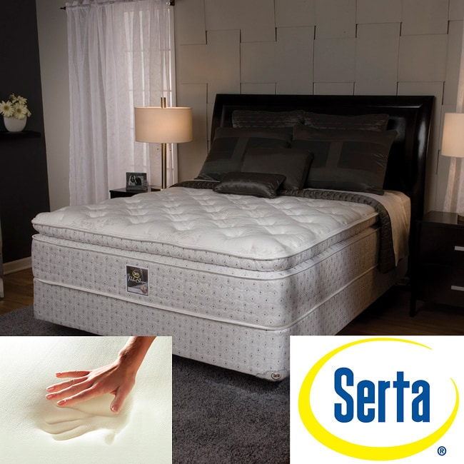 serta delphina pillow top california king size mattress and box spring set 11927351. Black Bedroom Furniture Sets. Home Design Ideas