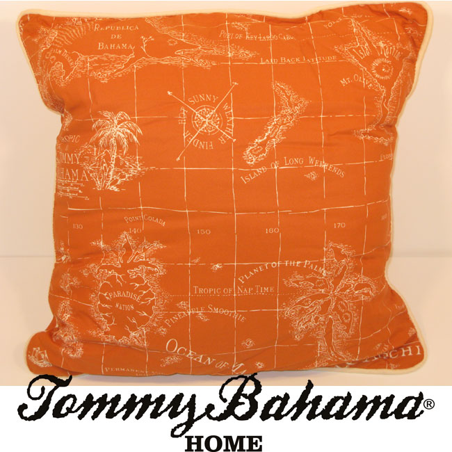 Tommy Bahama Relax Map Print Decorative Pillow