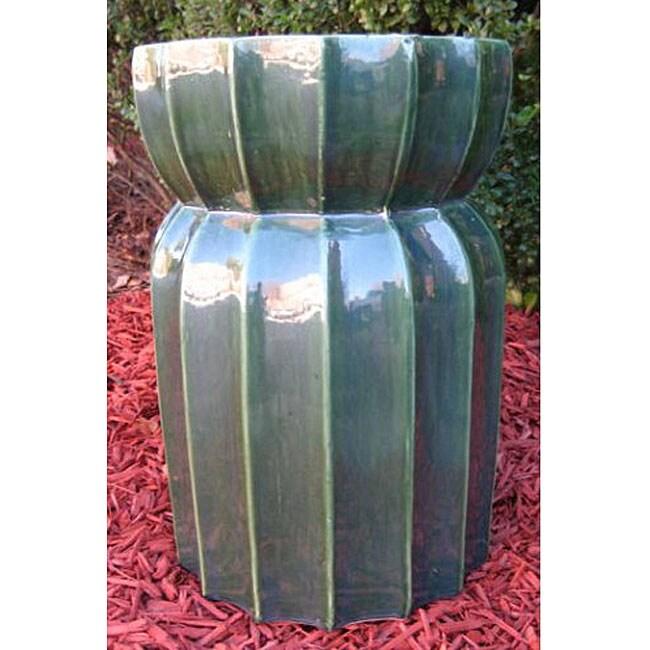Lotus Lan Green Ceramic Garden Stool 11942520