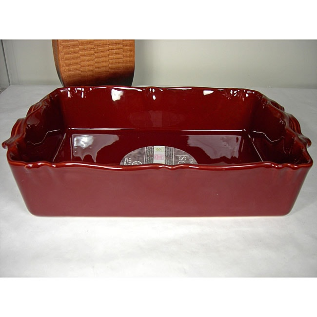 Appolia Mahogany 5 Quart Rectangular Ceramic Baking Dish