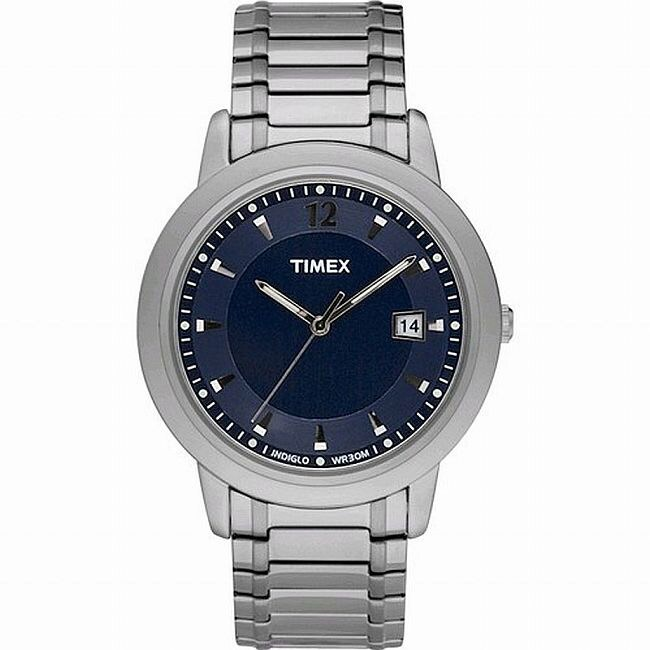 Timex Classic Indiglo Men S Stainless Steel Watch