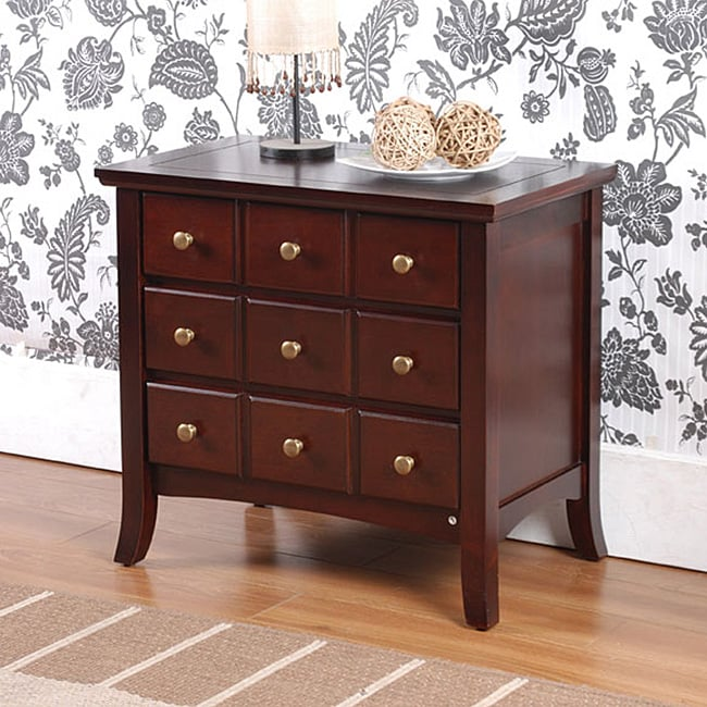 Lance Apothecary 3 Drawer End Table Nightstand