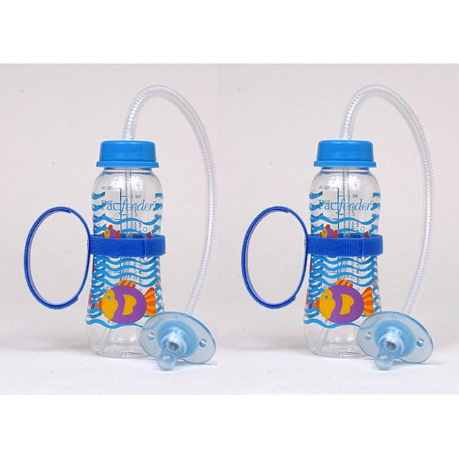 pacifeeder blue hands free baby bottles pack of 2 11990050 shopping big. Black Bedroom Furniture Sets. Home Design Ideas