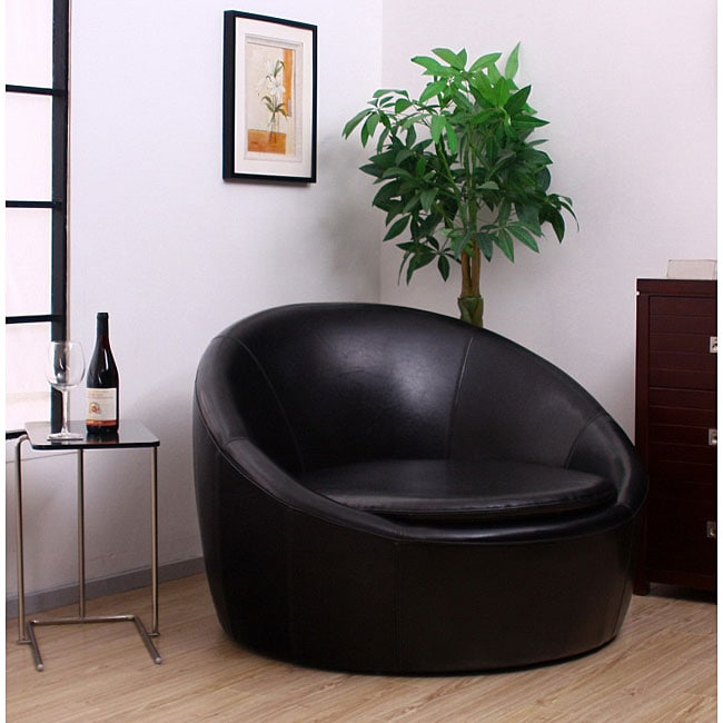 Lunar Black Oversized Chair 11990508 Overstock Com