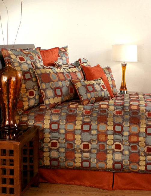 Overstock Bedroom Sets: Sherry Kline Metro Terracotta 7-piece Comforter Set