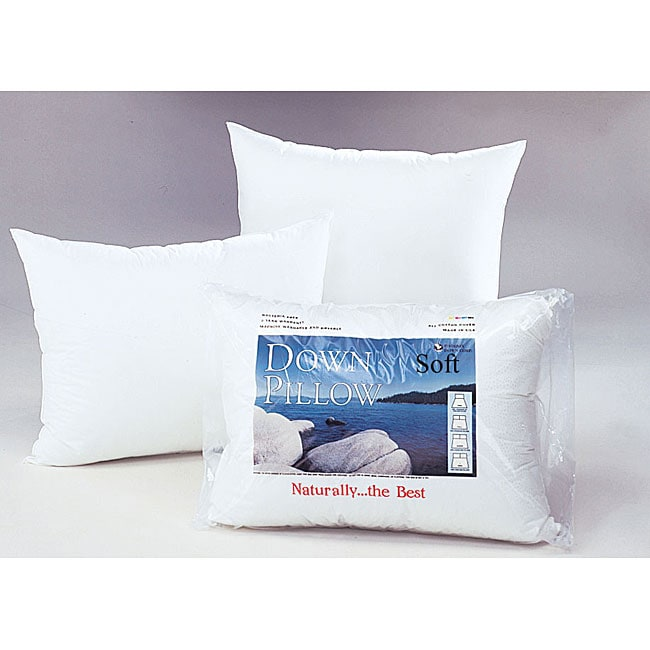 White Down Soft Support Pillow 12015557 Overstock