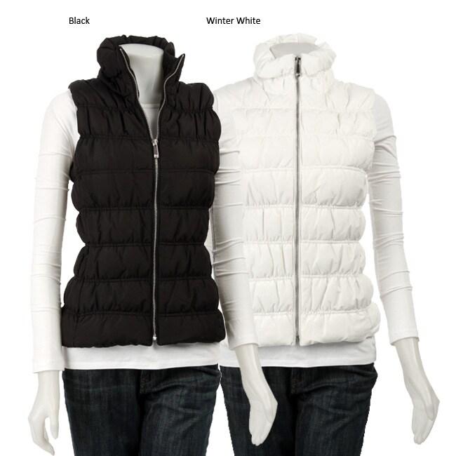 Michael Michael Kors Women S Ruched Slim Fit Down Vest