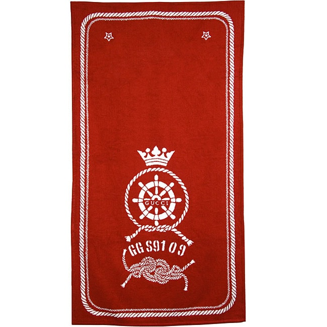Gucci Nautical Oversized Red Beach Towel 12026750