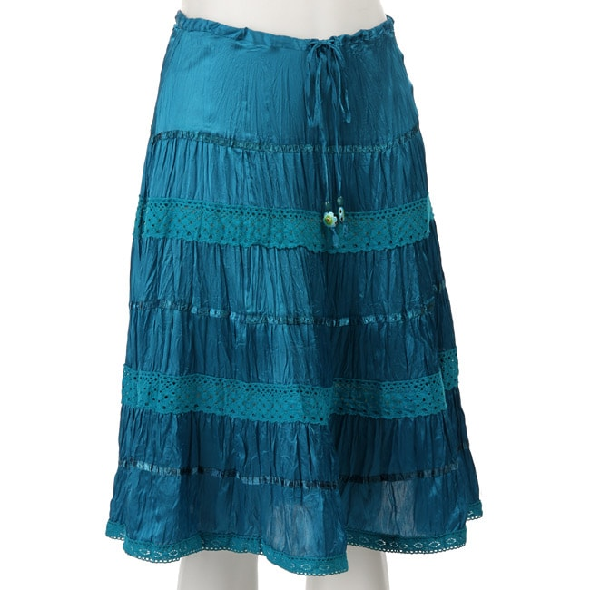 Silk Broomstick Skirt 3
