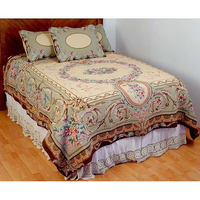 Elizabeth Sage King Size Tapestry Coverlet Set Free Shipping Today