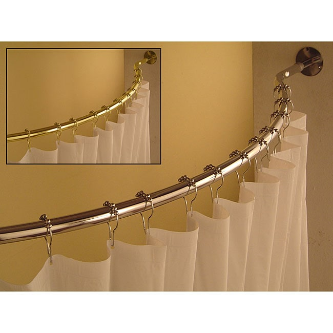 Curved 59 To 62 Inch Shower Curtain Rod 12053861