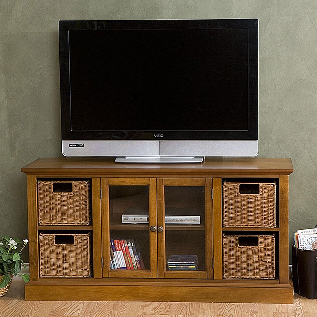 Entertainment Center With Storage Baskets 12058323