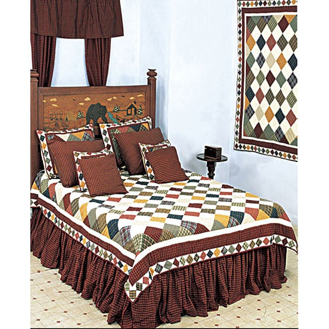 Rustic Cabin King Size Quilt 12091641 Overstock Com