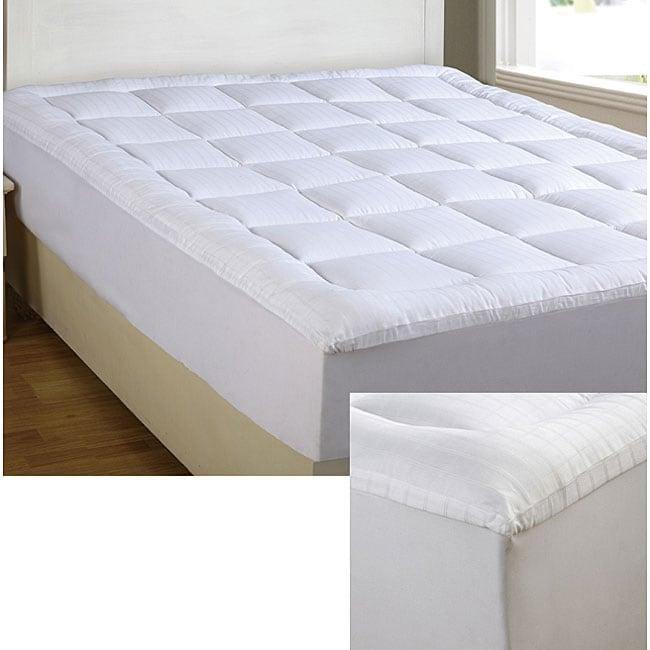 windowpane pillowtop twin twin xl full size mattress pad overstock shopping great deals. Black Bedroom Furniture Sets. Home Design Ideas