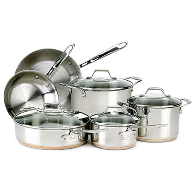 Emeril All Clad 10 Piece Stainless Cookware Set 12118926