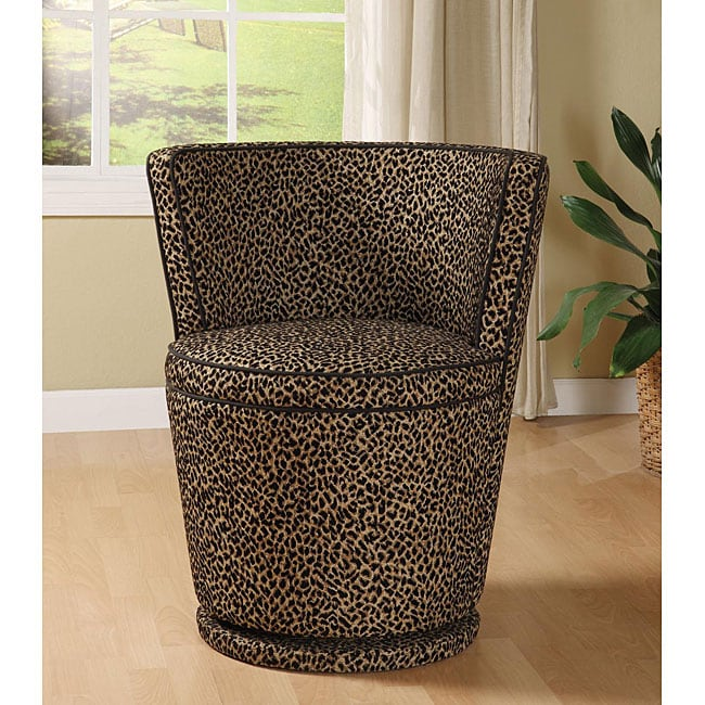 Carousel Leopard Print Swivel Chair 12130155 Overstock