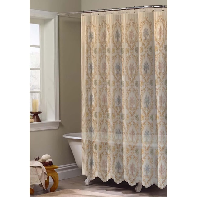 baroque shower curtain overstock shopping great deals on shower curtains. Black Bedroom Furniture Sets. Home Design Ideas
