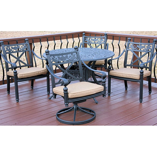 Overstock Dining Set: Madrid 5-piece Patio Furniture Set