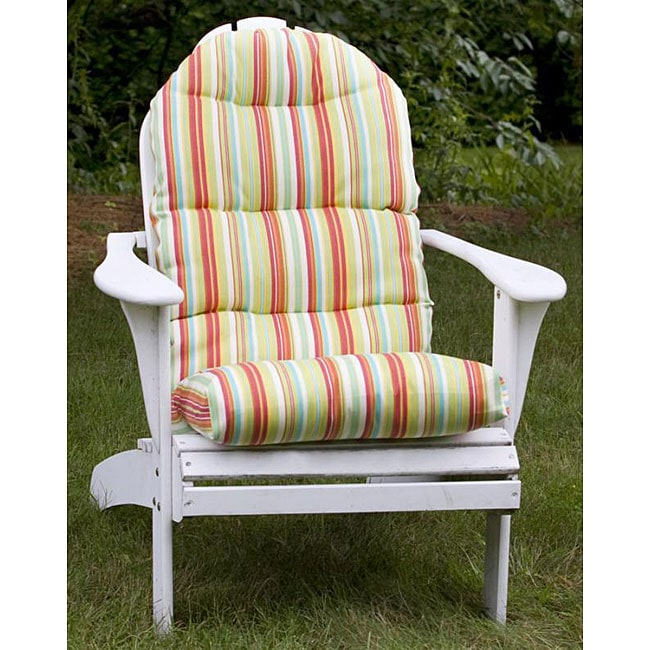 All Weather Lime Green Stripe Outdoor Adirondack Chair