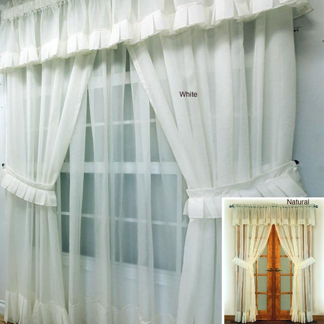 Jubilee 63-inch Sheer Curtain Panel Set