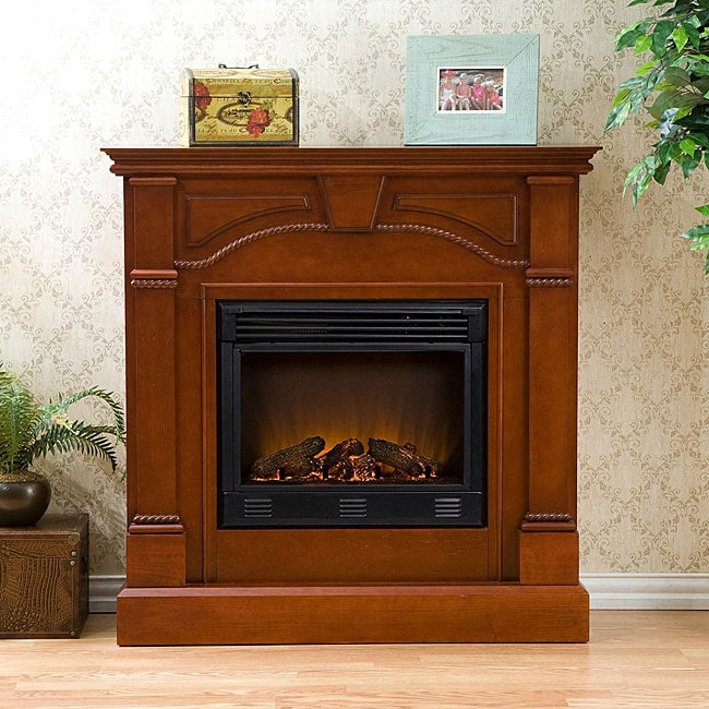 Macon Classic Mahogany Electric Fireplace