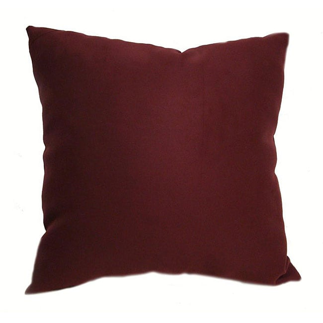 Ultrasoft 16 Inch Burgundy Throw Pillows Set Of 2