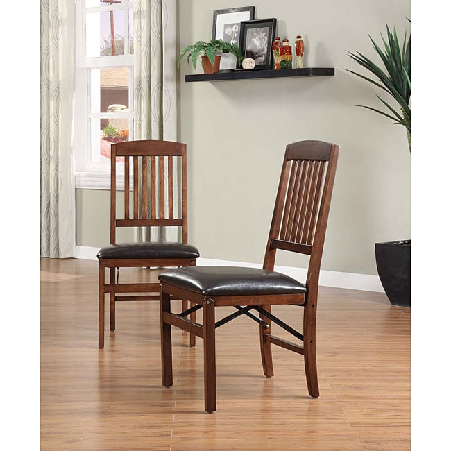Mission Style Dining Room Furniture: Mission-style Folding Chairs (Set Of 2)