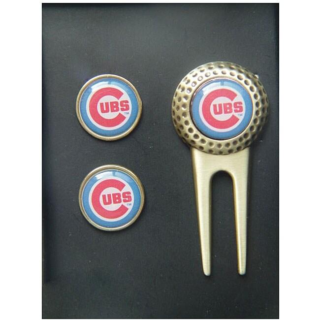 Chicago Cubs Mlb Divot Tool And Golf Ball Marker Set