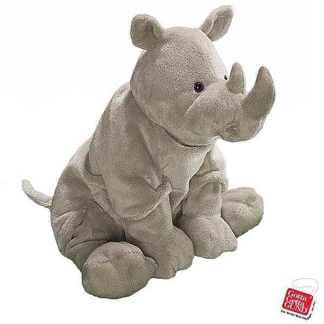 Gund Hagar The Rhino Stuffed Animal Toy Overstock