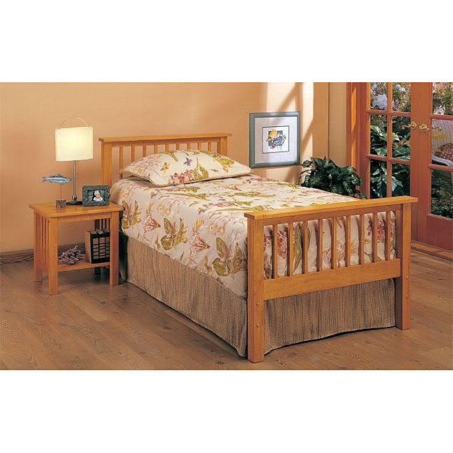Oak Mission-style Twin-size Headboard and Footboard ...