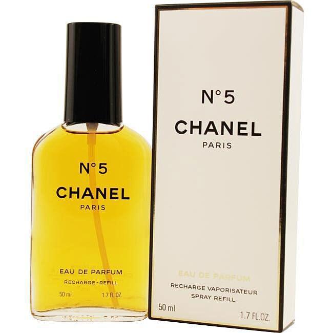 chanel 39 no 5 39 women 39 s 1 7 oz eau de parfum spray refill overstock shopping big discounts. Black Bedroom Furniture Sets. Home Design Ideas