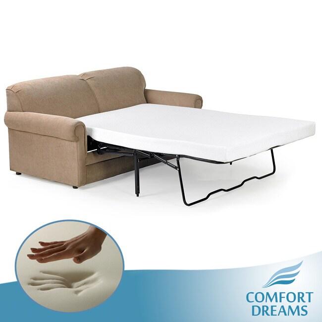 Comfort Dreams 4.5-inch Twin-size Memory Foam Sofa Sleeper ...