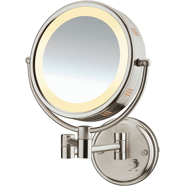Conair Double Sided 1x 5x Lighted Wall Mount Mirror
