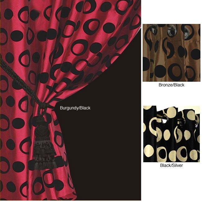 Jazz Lined Grommet Top 84 Inch Curtain Panel 12303604