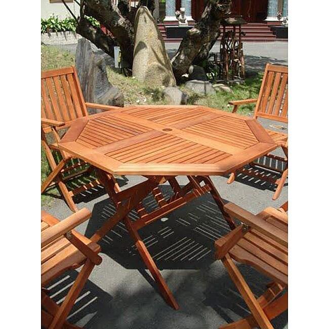 Eucalyptus Wood Octagonal Dining Table 12319083