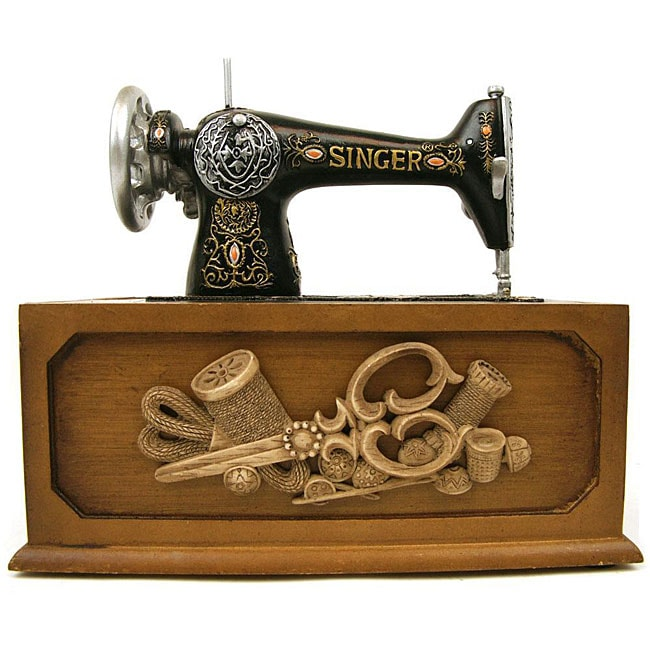 Singer Vintage Sewing Box And 137 Piece Accessory Kit