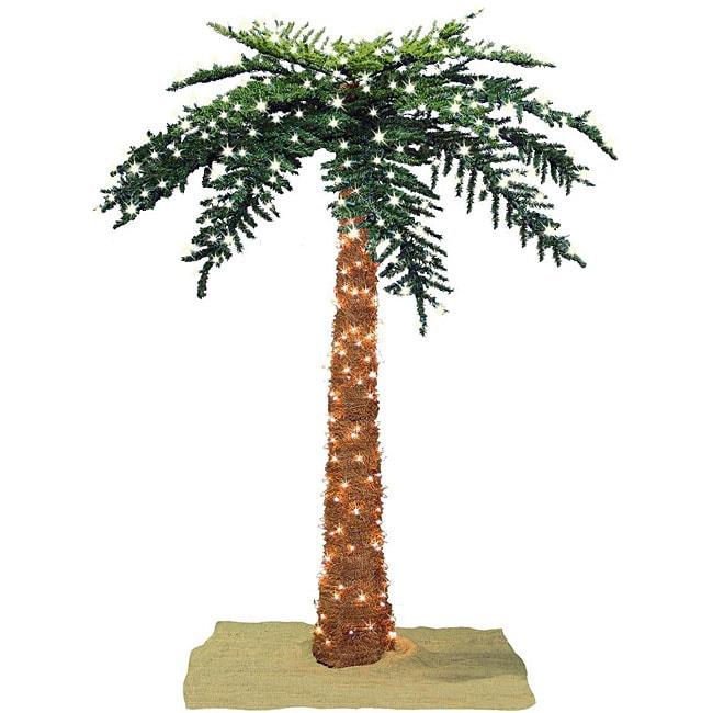 8ft Christmas Tree Pre Lit: Faux Tropical Royal 8-foot Pre-lit Palm Tree
