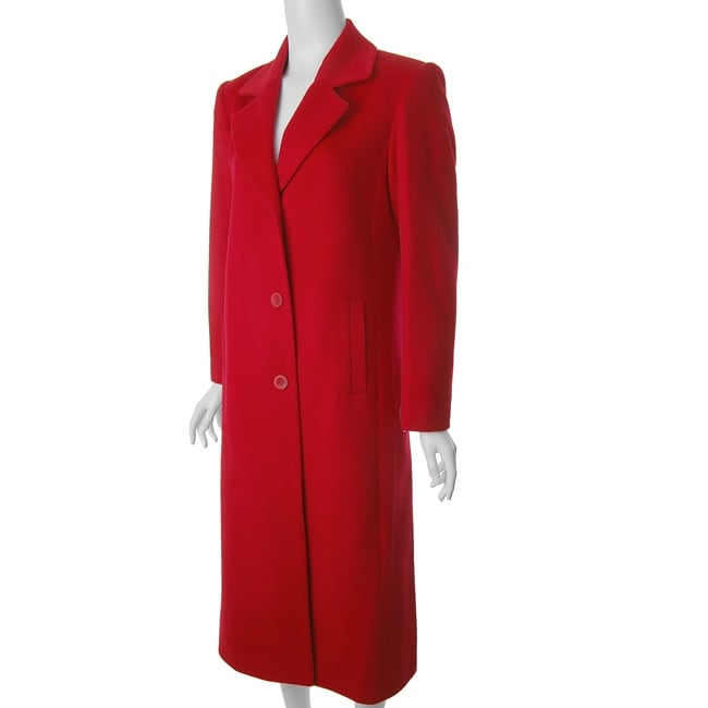 Jonathan Michael By Adi Women S Full Length Red Wool Coat