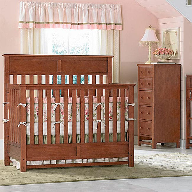 Bassett Coupon: Bassett Baby River Ridge Cherry 4-in-1 Crib