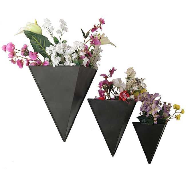 Pyramid Wall Planters Set Of 3 12352619 Overstock