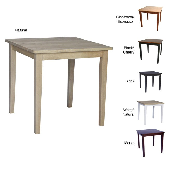 30 Inch Kitchen Table: Solid Wood 30-inch Square Dining Table
