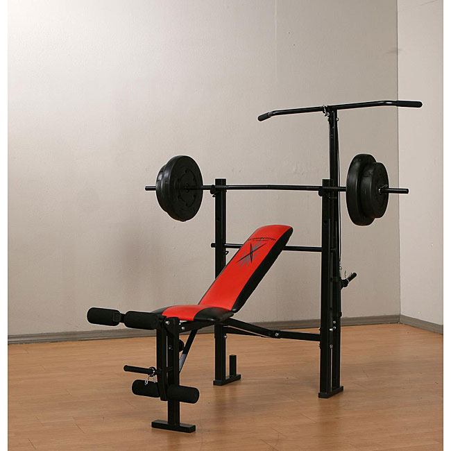 Marcy Weight Bench With 80 Pound Vinyl Weight Set