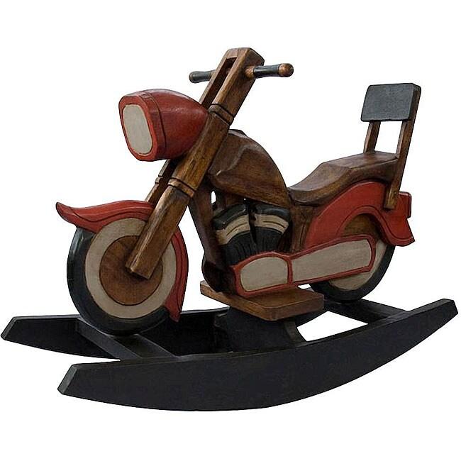 Handmade Kid S Motorcycle Rocking Horse Thailand