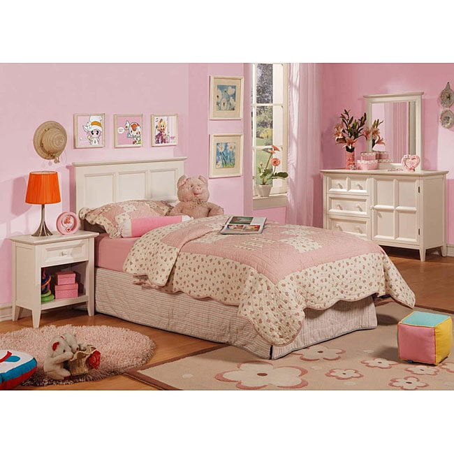 the palisades youth distressed white bedroom set