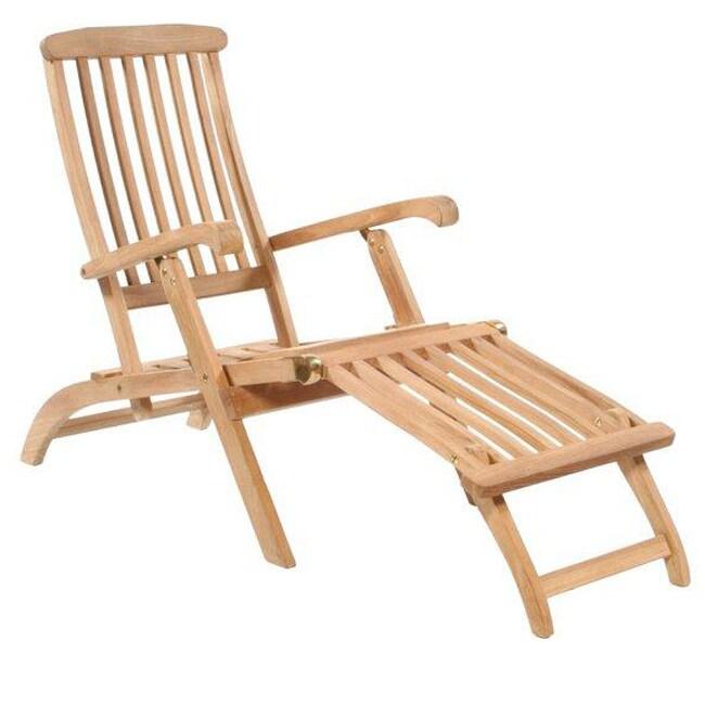 Classic Teak Steamer Chair 12503397 Overstock Com