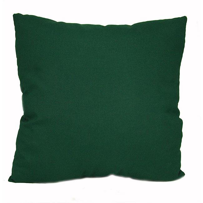 Dark Green Outdoor Uv Resistant Decorative Pillows Set Of