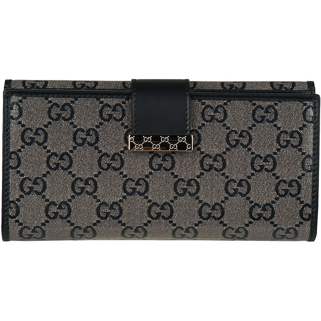 fedf4ac93b76 Gucci Silver/Black Continental Wallet on PopScreen